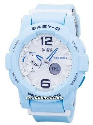 Casio Baby-G Shock Resistant Tide Graph Analog Digital BGA-180BE-2B Women's Watch
