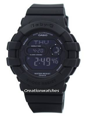 Casio Baby-G Dual Illuminator World Time Digital BGD-140-1A Women's Watch