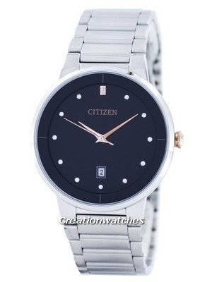 Citizen Quartz Diamond Accent Black Dial BI5014-58E Men's Watch