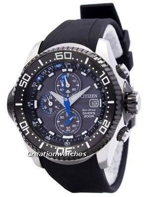 Citizen Promaster Eco Drive Aqualand Chronograph Diver's BJ2110-01E BJ2110-01 BJ2110  Men's Watch