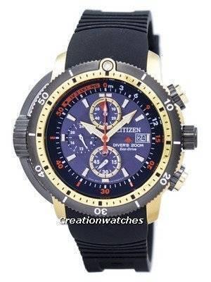 Citizen Promaster Aqualand Diver Eco-Drive Chronograph BJ2124-14E Men's Watch