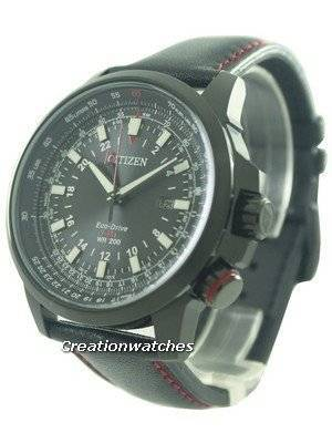 Citizen Eco-Drive Power Reserve GMT Pilot 200M BJ7075-02E Men's Watch