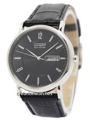 Citizen Eco-Drive Black Leather Strap BM8240-03E Men's Watch