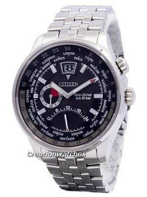Citizen Retrograde Dual Time Eco-Drive World Time BR0010-56E