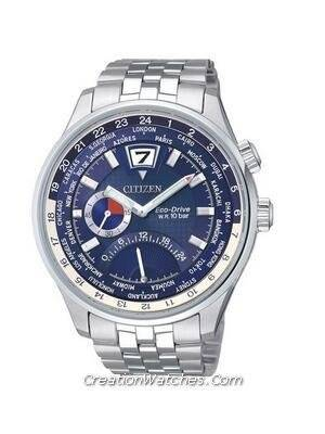 Citizen Retrograde Dual Time Eco-Drive World Time BR0010-56L