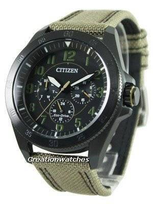 Citizen Eco-Drive Khaki Black IP BU2035-05E Men's Watch