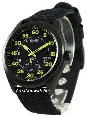 Citizen Eco-Drive Black Canvas Strap BV1085-14E Men's Watch