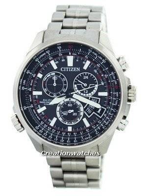 Citizen Promaster Eco-Drive Radio Controlled Titanium Chronograph Japan Made BY0121-51E Men's Watch