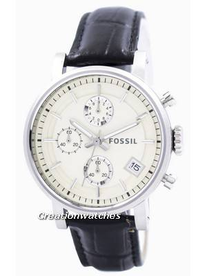 Fossil Original BoyFriend Chronograph Stainless Steel C181018-BLK Women's Watch