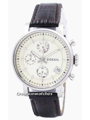Fossil Original BoyFriend Chronograph Stainless Steel C181018-BRW Women's Watch