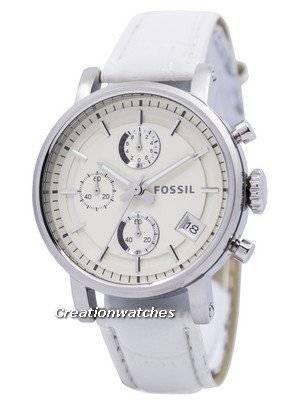 Fossil Original BoyFriend Chronograph Stainless Steel C181018-WHT Women's Watch