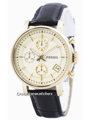 Fossil Original BoyFriend Chronograph Stainless Steel C181019-BLK Women's Watch