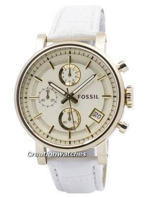 Fossil Original BoyFriend Chronograph Stainless Steel C181019-WHT Women's Watch
