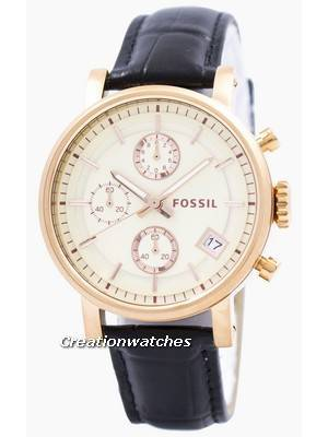 Fossil Original BoyFriend Chronograph Stainless Steel C181020-BLK Women's Watch