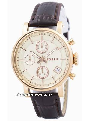 Fossil Original BoyFriend Chronograph Stainless Steel C181020-BRW Women's Watch
