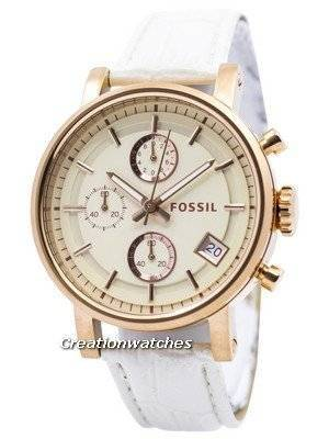 Fossil Original BoyFriend Chronograph Stainless Steel C181020-WHT Women's Watch