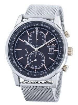Citizen Eco-Drive Mesh Bracelet Chronograph CA0336-52H Men's Watch