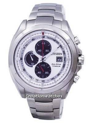 Relógio Citizen Eco-Drive Titanium Chronograph Tachymeter CA0551-50A masculino