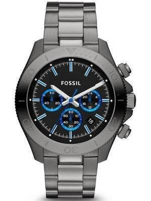Fossil Retro Traveler Chronograph Smoke Tone CH2869 Men's Watch