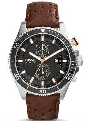 Fossil Decker Chronograph Leather Strap CH2944 Men's Watch