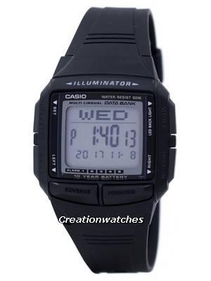 Casio Illuminator Multi-lingual Databank Dual Time Digital DB-36-1AV Men's Watch