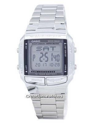 Casio Data Bank Illuminator Dual Time Alarm Digital DB-360-1A DB360-1A Men's Watch