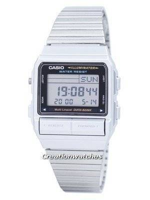 Casio Digital 5 Alarm Multi-Lingual Data Bank DB-380-1DF DB380-1DF Men's Watch