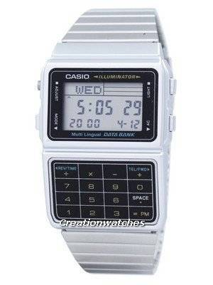 Casio Digital Stainless Steel Data Bank Multi-Lingual DBC-611-1DF DBC-611-1 Men's Watch