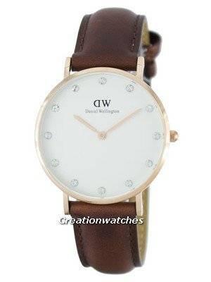 Daniel Wellington Classy St Mawes Quartz Crystal Accent DW00100075 (0950DW) Women's Watch