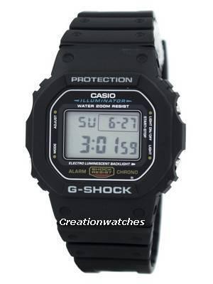 Casio G-Shock Illuminator Alarm Chrono DW-5600E-1V Men's Watch