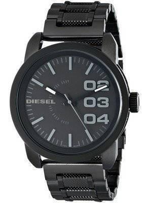 Diesel Black Dial Black Textured Steel WR100M DZ1371 Men's Watch
