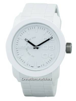 Diesel Double Down White Dial Rubber Strap DZ1436 Men's Watch