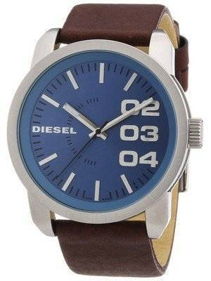 Diesel Not So Basic Quartz Blue Dial Brown Leather DZ1512 Men's Watch