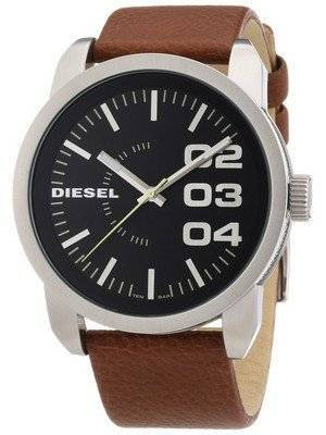 Diesel Black Dial Tan Leather DZ1513 Men's Watch