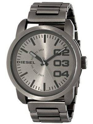 Diesel Double Down Grey Dial Ion Plated DZ1558 Men's Watch