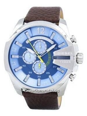 Diesel Mega Chief Chronograph Blue Dial DZ4281 Men's Watch