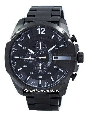 Diesel Mega Chief Quartz Chronograph Black IP DZ4283 Men's Watch