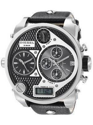 Diesel Chronograph Black Multi Dial Leather Strap DZ7125 Men's Watch