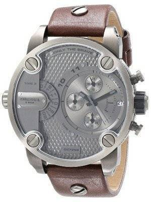 Diesel Little Daddy Chronograph Dual Time Grey Dial DZ7258 Men's Watch