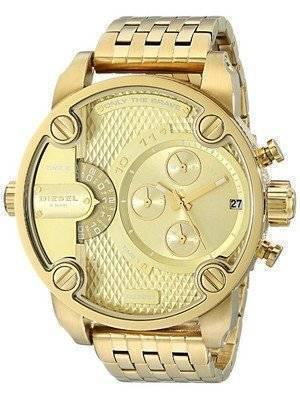 Diesel Little Daddy Chronograph Gold Tone DZ7287 Men's Watch