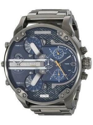 Diesel Mr. Daddy 2.0 Blue Dial Black Ion-Plated DZ7331 Men's Watch