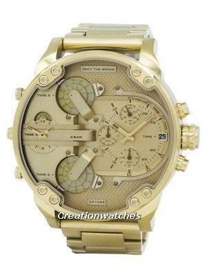 """Diesel Mr. Daddy 2.0 Timeframes """"Only The Brave"""" Chronograph Quartz DZ7399 Men's Watch"""