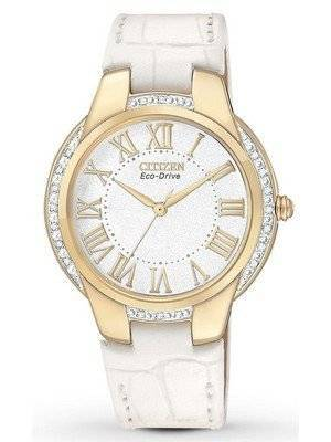 Citizen Ciena Diamonds Eco-Drive Gold Tone EM0092-01A Women's Watch