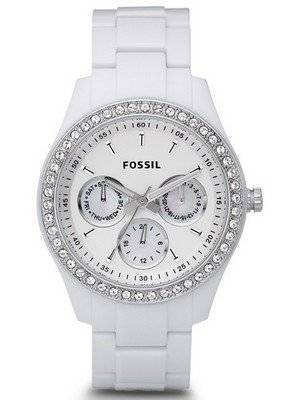 Fossil Stella White Dial Crystal ES1967 Women's Watch