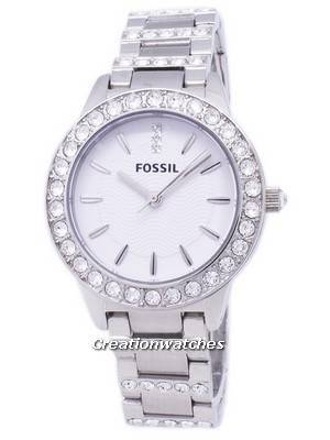 Fossil Jesse Silver Crystals White Dial ES2362 Women's Watch