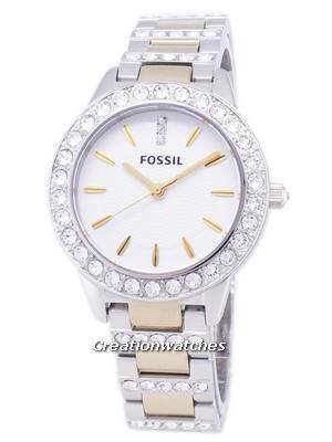 Fossil Jesse Crystal Two-tone Quartz ES2409 Women's Watch