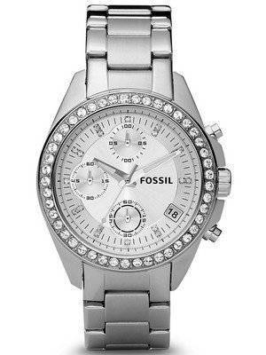 Fossil Decker Chronograph Crystals White Dial ES2681 Women's Watch