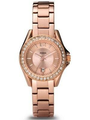 Fossil Riley Mini Rose Gold Crystals ES2889 Women's Watch