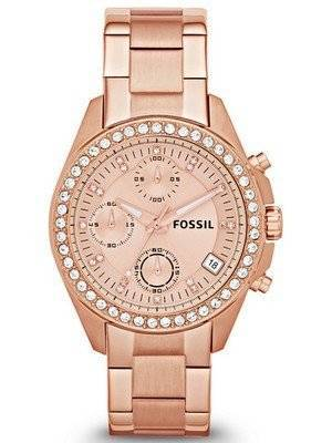 Fossil Decker Chronograph Crystal ES3352 Women's Watch