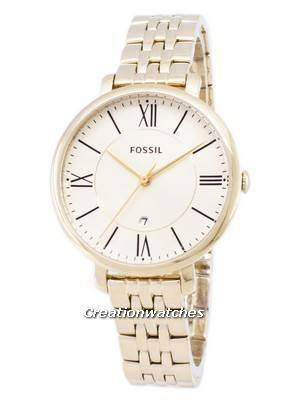 Fossil Jacqueline Champagne Dial Gold-Tone Stainless Steel ES3434 Women's Watch
